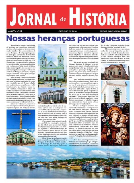 Capa do Jornal de História