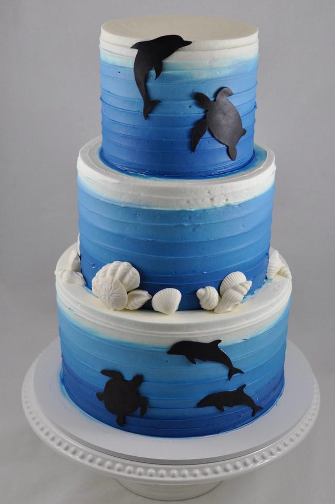 Under The Ocean Themed Birthday Cake
