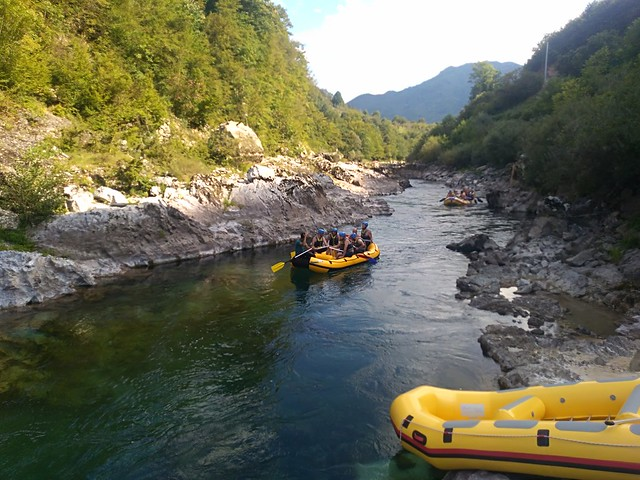 Neretva river take the rafting