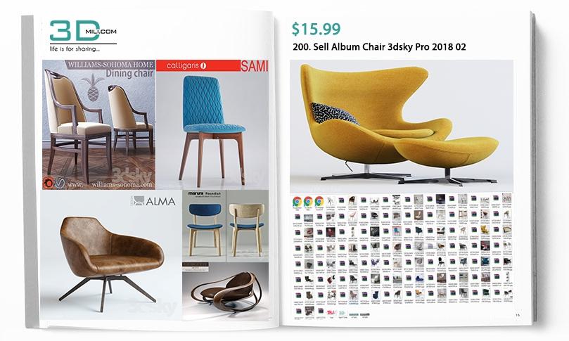 200  Sell Album Chair 3dsky Pro 2018 02 - 3D Mili - Download 3D Model -  Free 3D Models - 3D Model Download