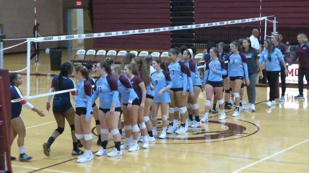 Girls Varsity Volleyball: Okemos vs. East Lansing