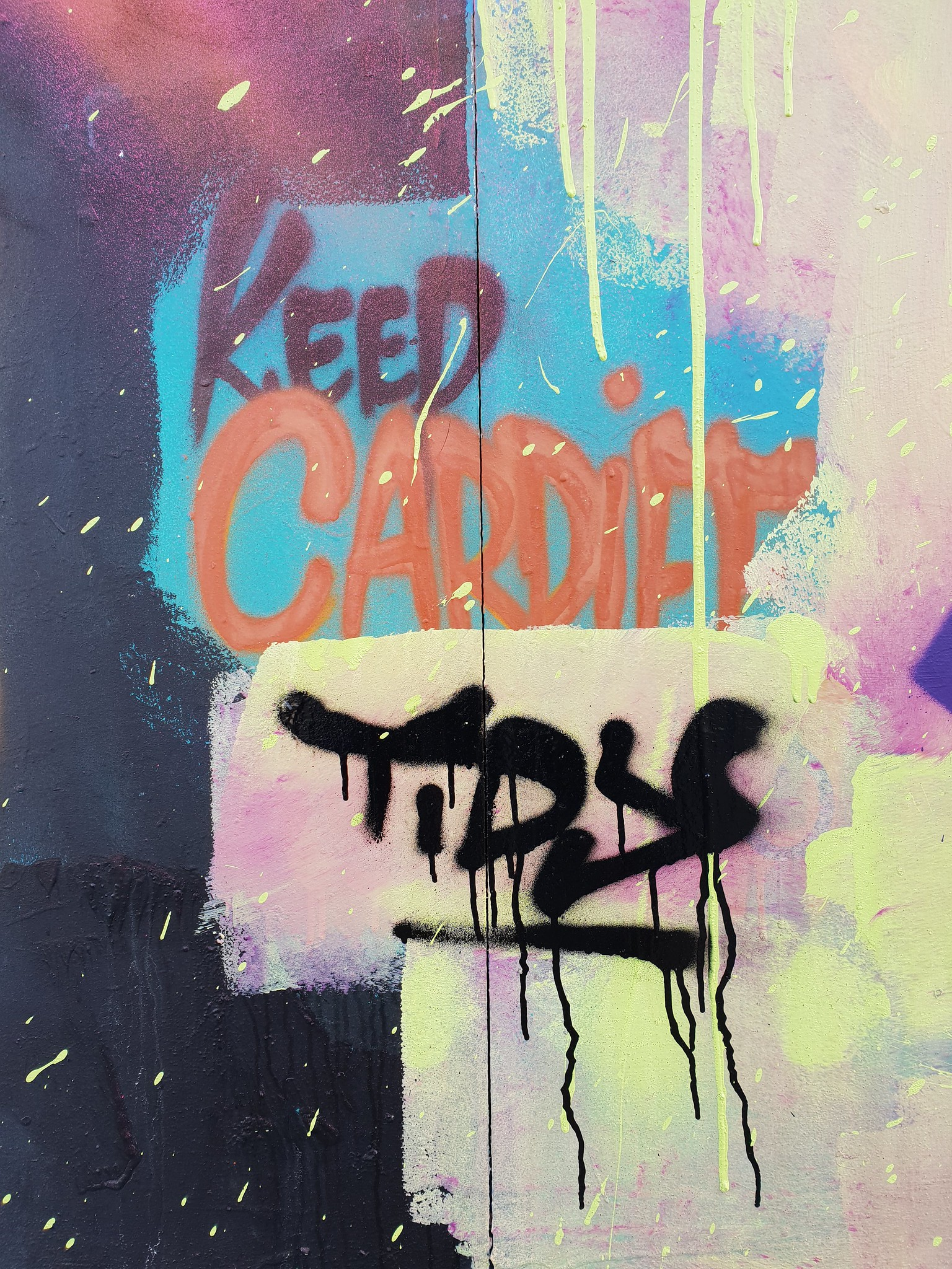 Millennium walkay Street art, Cardiff