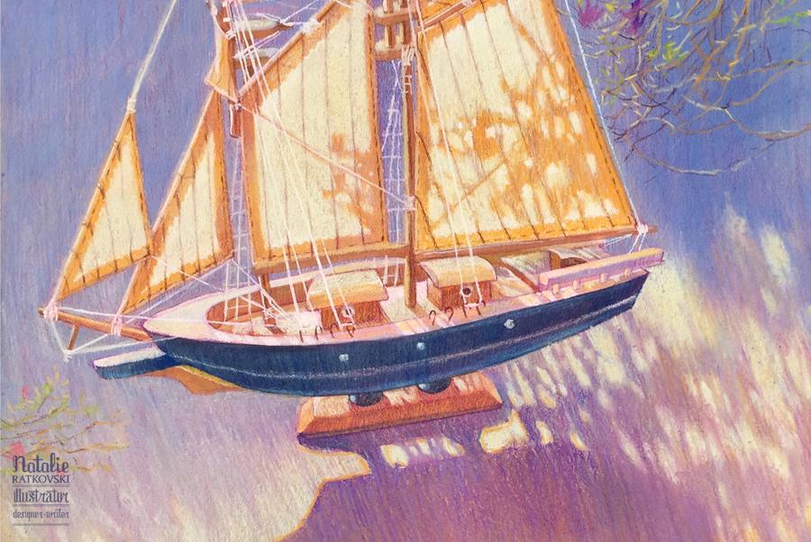 Sunny sail, detail