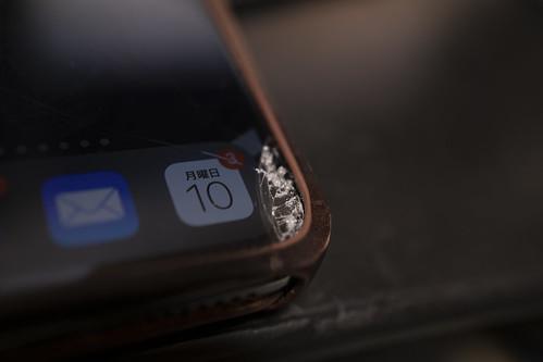 iPhone Xs Max ガラス破損_01