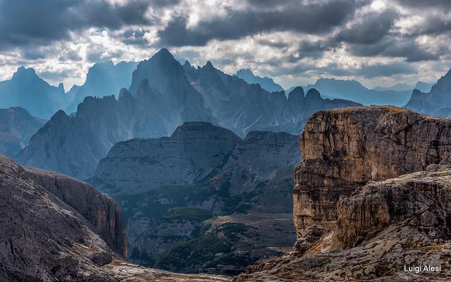 Dolomiti - i Cadini visti dal Pian di Cengia