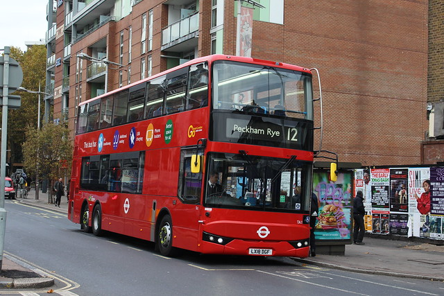 London Central TA1 on Route 12, Peckham Rye