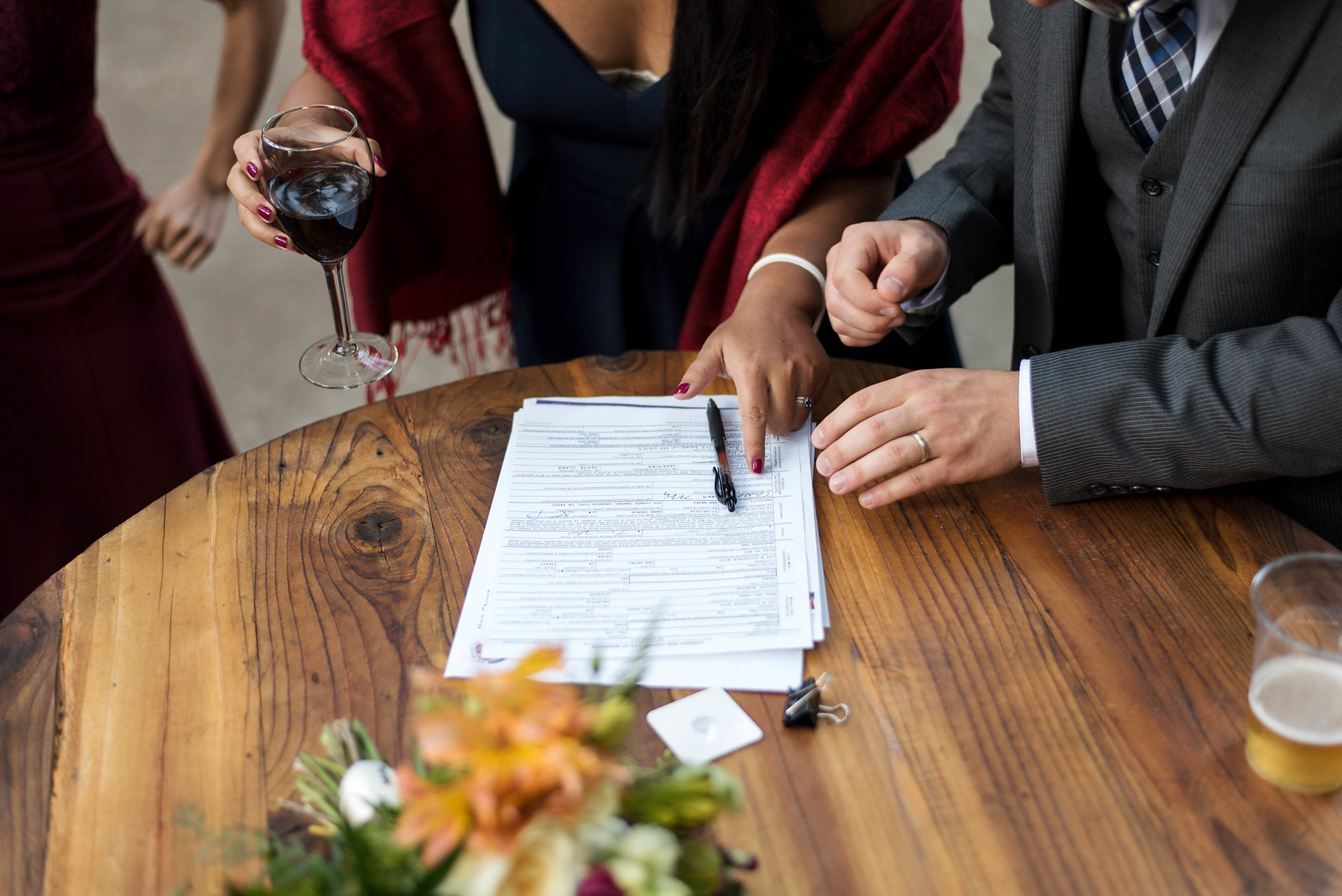 Marriage License Signing on juliettelaura.com