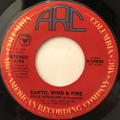 EARTH, WIND & FIRE WITH THE EMOTIONS:BOOGIE WONDERLAND(LABEL SIDE-B)