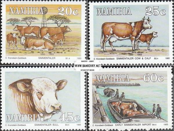 Známky Namíbia 1993 Dobytok Simmentaler