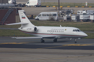 LZ-001, AMD Falcon 2000EX Gulgaria Government @ Brussel BRU EBBR