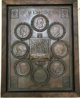 WWI In Memoriam plaque Burns