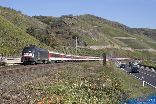 ES 64 U2-028 BTE Sonderzug Köln Hbf Roma Ostiense über Kufstein Brenner.  Boppard . 14.10.18.