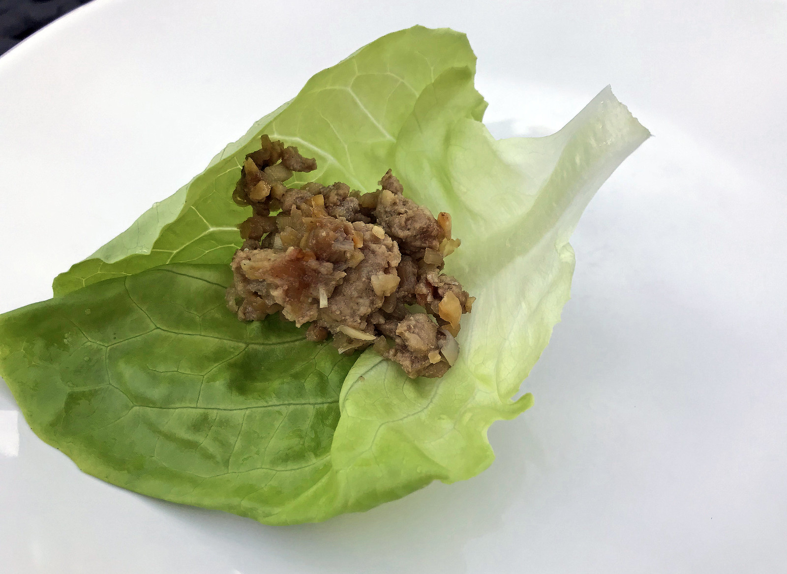 Thai-style turkey lettuce cups