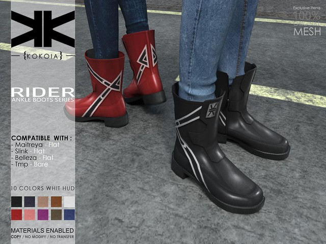 Rider :: Ankle Boots :: 10 Colors