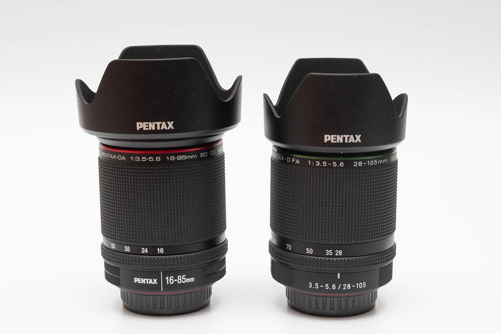 HD PENTAX-D FA 28-105mmF3.5-5.6ED DC WR & HD PENTAX-DA 16-85mmF3.5-5.6ED DC WR