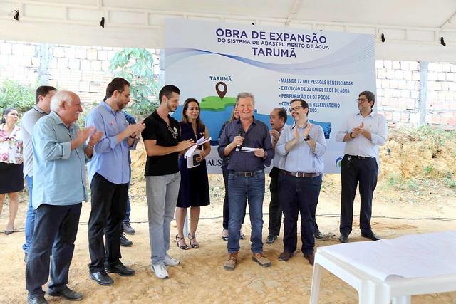 09.10.2018 Prefeito libera ordem de serviço pra expansão da rede de água em comunidades do Tarumã