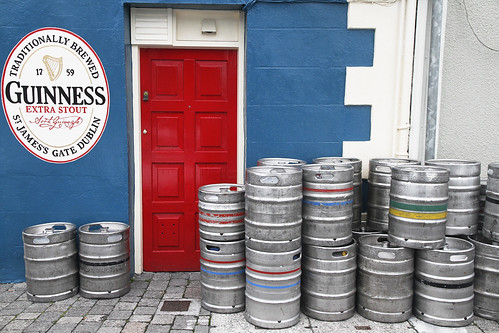 Colors and beer for a door