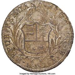 1839 South Peru 8 Reales reverse