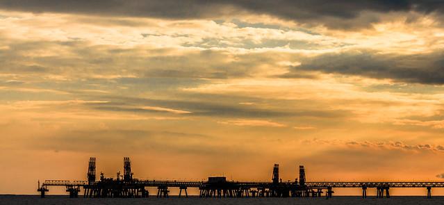 A sky adding interest to a gas terminal