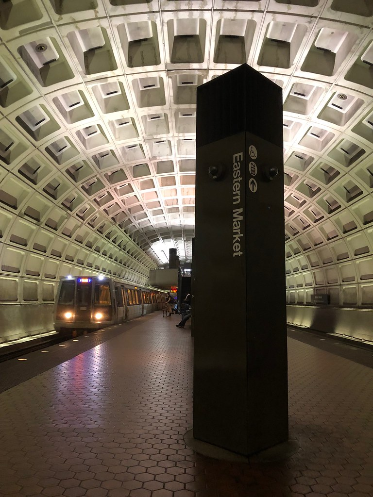 Central Market metro station, Washington, DC.