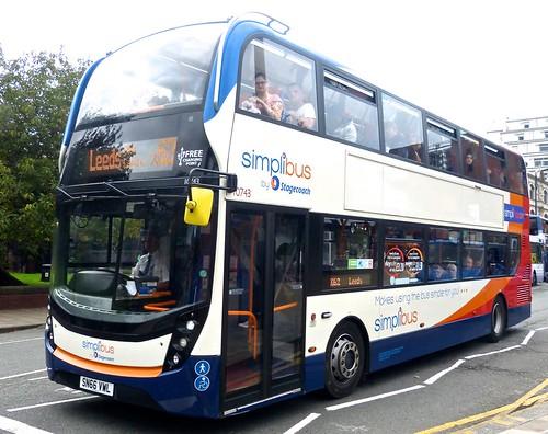 SN66 VWL 'Stagecoach East Midlands' No. 10743 'simplibus'. 'ADL' E40D / 'ADL' Enviro 400MMC on Dennis Basford's railsroadsrunways.blogspot.co.uk'