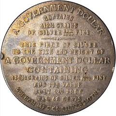 1900 Bryan Dollar HK-783 obverse