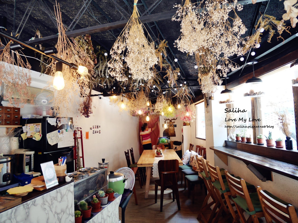 新店小碧潭站食尚玩家推薦乾燥花文青餐廳咖啡在家吃飯 (2)