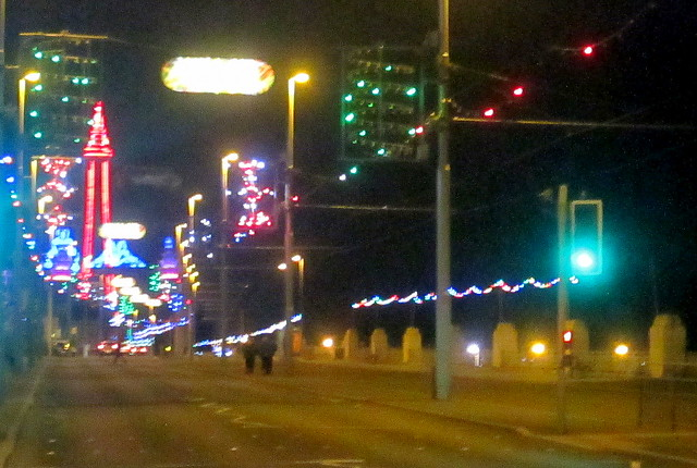 Blackpool Illuminations, Tower in Distance