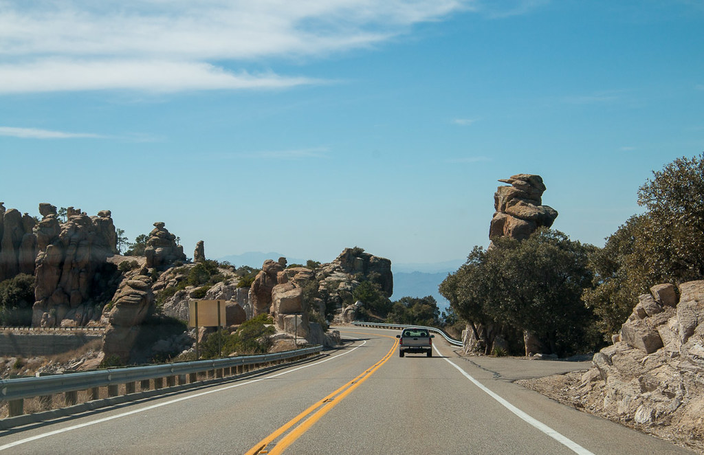 Driving along Mt. Lemmon Scenic Byway