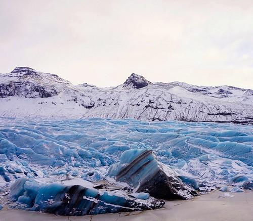Winter blue ice of Svínafellsjökull Glacier - Glacier Lagoon 2 Day Tour. PhotographerScott Drummond