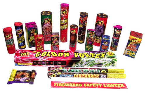 Mega Party Selection Box Contents by TNT Fireworks