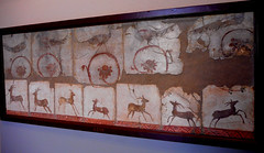 """""""Pastiches with animals"""" - painted plaster (1st century AD) from Herculaneum, found year 1748 - Exhibition """"Herculaneum and Pompeii: Vision of Discovery"""" up to September 30, 2018 at the Archaeological Museum of Naples"""