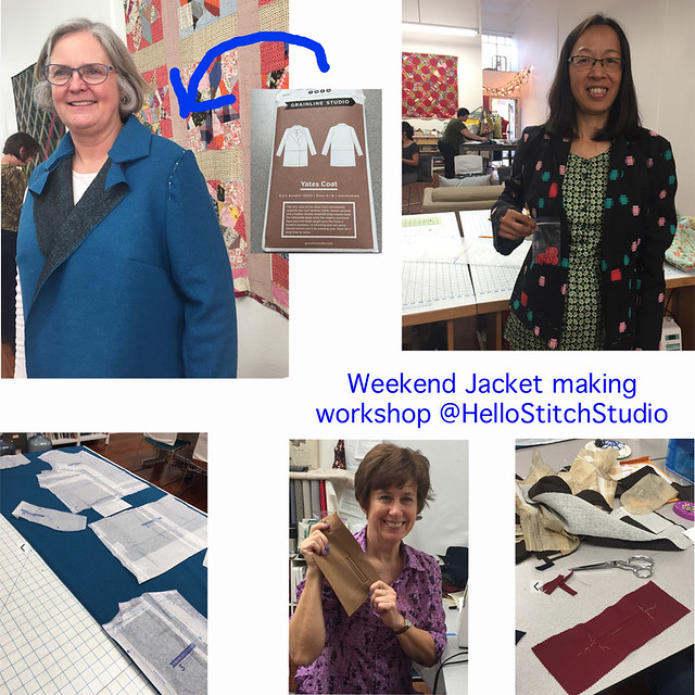 Weekend jacket making workshop collage