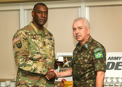 Gen Pujol of Brazil and team visit RDECOM HQ-17