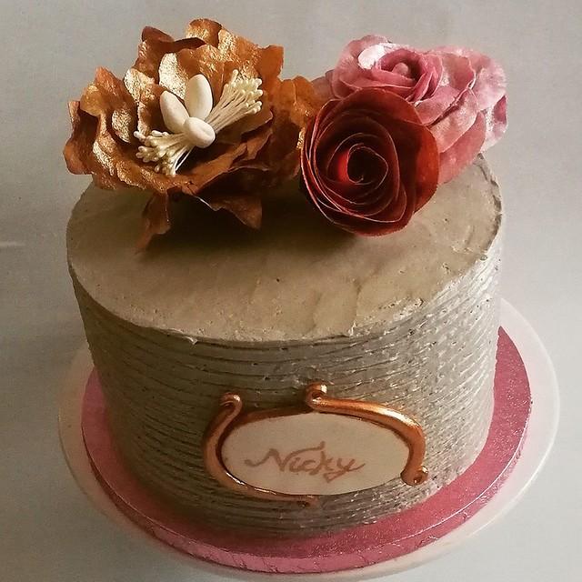 Cake by Aneta Olechno of Lusia Home Birthday Cake