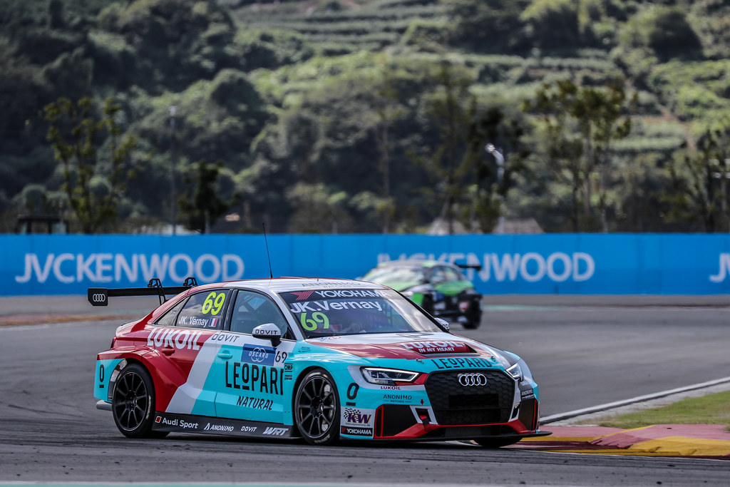 69 VERNAY Jean-Karl, (fra), Audi RS3 LMS TCR team Audi Sport Leopard Lukoil, action during the 2018 FIA WTCR World Touring Car cup of China, at Ningbo  from September 28 to 30 - Photo Marc de Mattia / DPPI