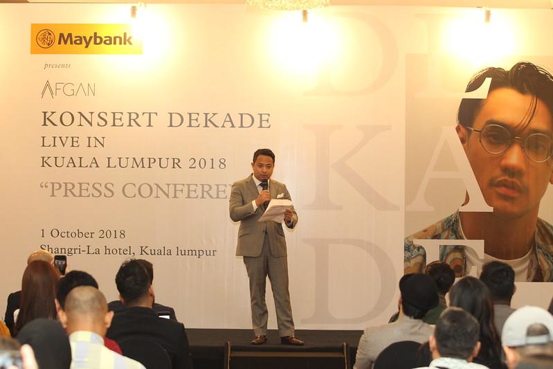 Afgan Konsert Dekade Press Conference