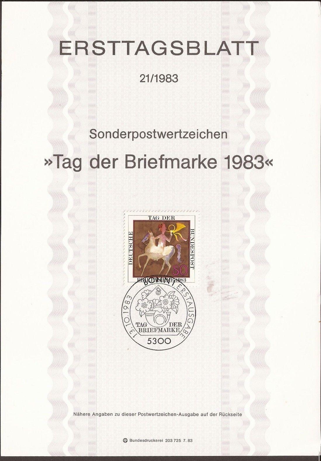 Germany - Scott #1405 (1983) - Ersttagsblatt (first day card)
