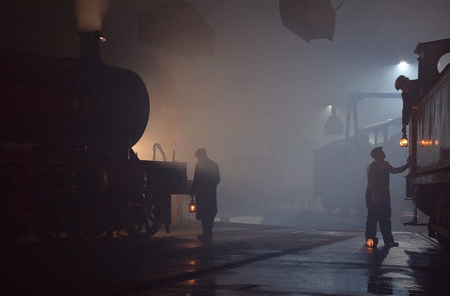 The night shift at Barrowhill Roundhouse. 07 11 2018. Timeline Eevents