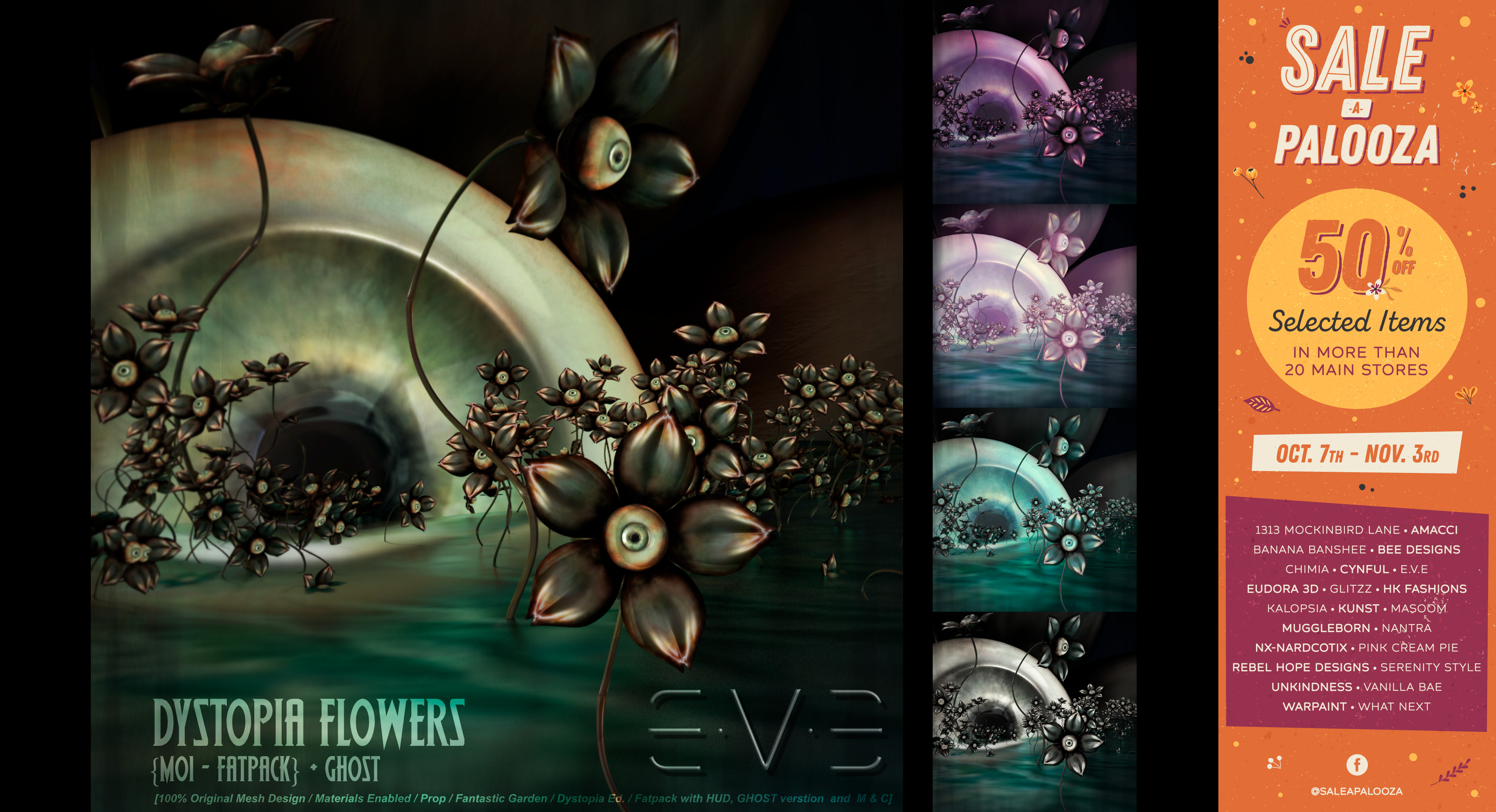 E.V.E DYSTOPIA Flower-Eye Fatpack (Sale-A-Palooza_October)