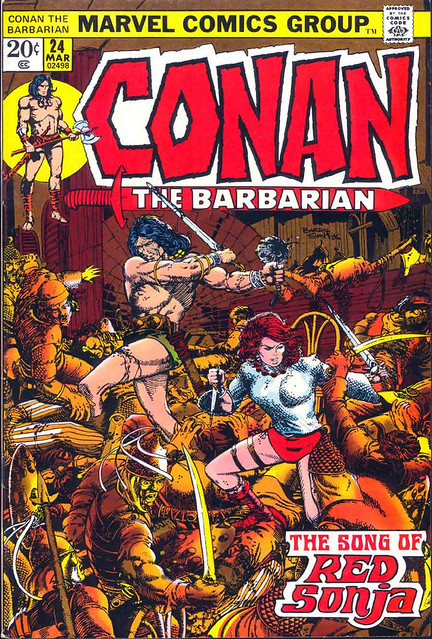 Conan -23- Barry Windsor Smith - Portada The Song of Red Sonja