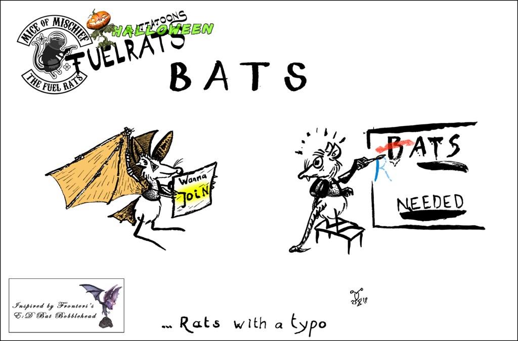 Bats. A Fuel Rats Cartoon