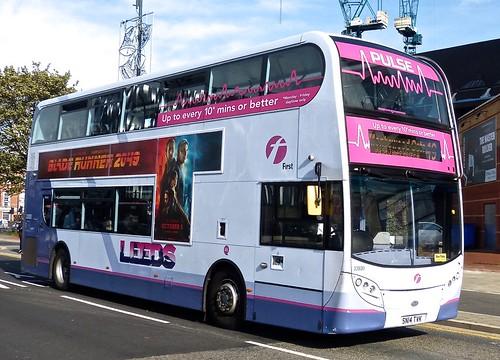 SN14 TVK 'First West Yorkshire' No. 33880 'Leeds Pulse'. Alexander Dennis Ltd. (ADL) E40D / 'ADL' Enviro 400 on Dennis Basford's railsroadsrunways.blogspot.co.uk'