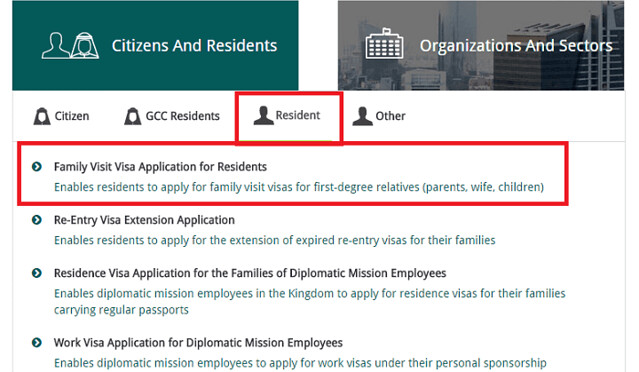955 Guideline to Fill Online Application for Family Visit Visa in Saudi Arabia 01