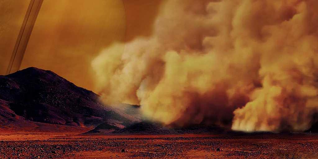 Titan : des tempêtes de poussière repérées pour la première fois