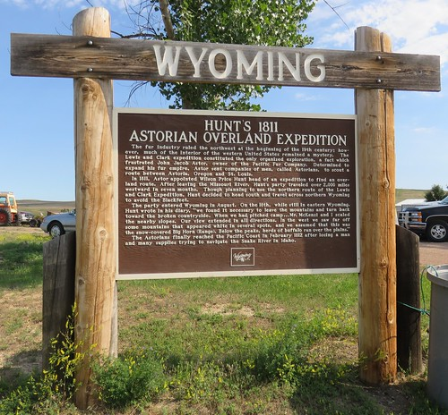 Hunt's 1811 Astorian Overland Expedition Marker (Spotted Horse, Wyoming)