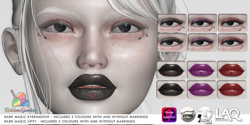 *Rainbow Sundae* Dark Magic Eyeshadow & Lippy for The Liaison Collaborative