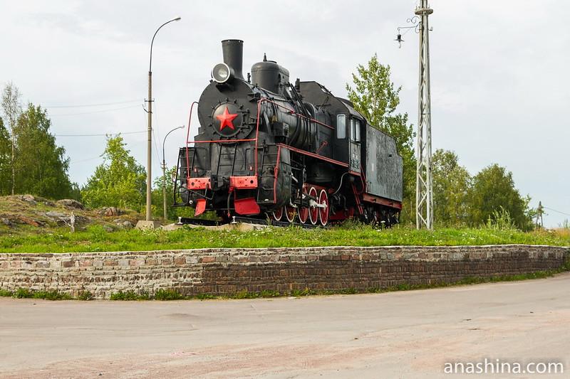 Паровоз-памятник Эр 788-81, Сортавала, Карелия