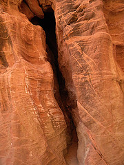 Slot canyon in the red rock at Buckskin Gulch, a hike on the Utah-Arizona Borderlands