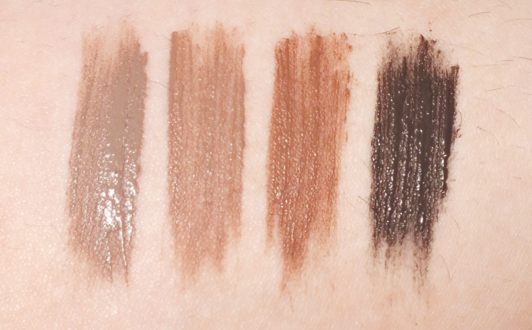 Mary Kay Volumizing Brow Tint swatches
